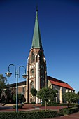 D-Herzlake, Samtgemeinde Herzlake, Hase, Hasetal, Emsland, Niedersachsen, Sankt Nikolaus Kirche, katholische Kirche, D-Herzlake, Samtgemeinde Herzlake, Hase, Hase Valley, Emsland, Lower Saxony, Saint Nikolaus church, catholic church *** Local Caption ***