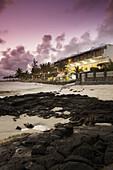 Blue Lagoon Beach Hotel at dusk, Blue Bay, Southern Mauritius, Mauritius