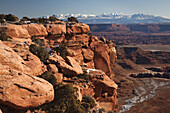 Grand View Overlook in winter, Canyonlands National Park, Moab, Utah, USA