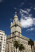 Palacio Salvo building from Plaza Independencia, Montevideo, Uruguay