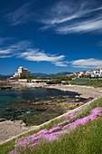 Italy, Sardinia, Western Sardinia, Alghero, Rada di Alghero bay and Villa Las Tronas hotel