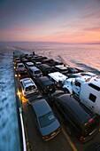 USA, New York, Long Island, Orient Point, Long Island Sound Ferry, dusk