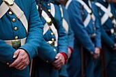USA, West Virginia, Harpers Ferry, Harpers Ferry National Historic Park, US Civil War-era Marines, military re-enactors, NR
