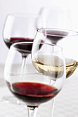 Alcohol, Aliment, Aliments, Background, Beberage, Bottle, Close, Close-up, Closeup, Colour, Cup, Drink, Food, Foodstuff, Healthy, Indoor, Life, Nourishment, Red, Refresh, Rose, Still, Up, White, Wine, D80-831645, agefotostock