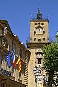 F, Frankreich, Provence, Aix-en-Provence, Rathaus, Glockenturm