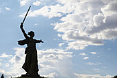 Aussen, Draussen, Europa, Farbe, Horizontal, Länder, Mamáyev Kurgán, Patriotismus, Plätze der Welt, Reisen, Rußland, Russland, Silhouette, Silhouetten, Skulptur, Skulpturen, Stalingrad, Statue, Statuen, Symbolisch, Tageszeit, Volgograd, Weltkrieg, Weltkri