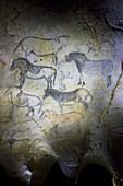 Replica of Ekain cave, Cestona. Guipuzcoa, Basque Country, Spain