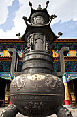 Sculpture in front of Yuantong Temple, largest Buddhist temple complex at Kunming, Yunnan, People's Republic of China, Asia