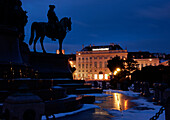 Maria Theresien Square with monument, Museum Quartier, Vienna, Austria