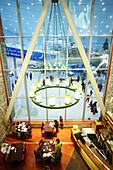 View at the indoor ski resort Ski Dubai at the Mall Of The Emirates, Shopping Mall, Dubai, UAE, United Arab Emirates, Middle East, Asia