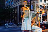 Shop windows on Magnificent Mile, Chicago, Illinois, USA