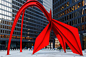 Alexander Calder sculpture The Flamingo, Federal Plaza Square, Chicago, Illinois, USA