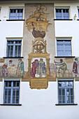 Facade of the Handwerkskammer, chamber of trade, Nuremberg, Franconia, Bavaria, Germany
