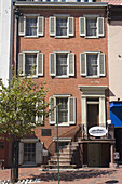 Petersen House where Abraham Lincoln died, Washington DC, USA