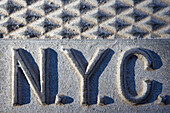 New York City drain cover, USA