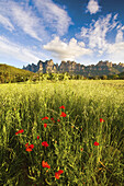 Montserrat Mountain viewed from Sant Cristòfol. Bages. Barcelona Province. Catalonia. Spain / Macizo de la Montaña de Montserrat, visto desde Sant Cristòfol, en la Comarca del Bages. Província de Barcelona. Cataluña. España