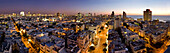 Tel Aviv Cityscape in the afterglow, Israel, Middle East