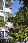 Original Bauhaus Building, Dizengoff Street, Tel Aviv, Israel, Middle East