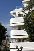 View at original Bauhaus building, Ben Ami Steet, Tel Aviv, Israel, Middle East