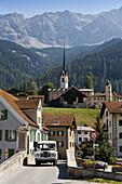 Church Son Mitgel, Savognin, Canton of Grisons, Switzerland