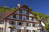 Burg und Gasthof in Hornberg, Sommermorgen, Südlicher Schwarzwald, Schwarzwald, Baden-Württemberg, Deutschland, Europa