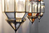 Detail of Moroccan lamps, Marrakech, Morocco, Afrika