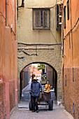 In the alleyways of the Medina, Marrakech, Morocco, Africa