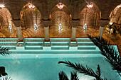 Swimming pool at Riad La Sultana, Luxury Hotel, Marrakech, Morocco, Africa