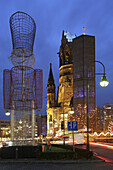 Kaiser Wilhelm Memorial church, former city center of West-Berlin, Berlin, Germany