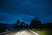 Country road at night, Austria