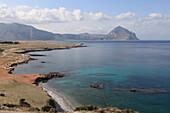 Idyllic coast area under clouded sky, Province Trapani, Sicily, Italy, Europe
