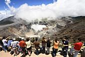 Crater of Poas Volcano, Poas National Park, Costa Rica, Central America