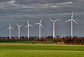 Wind Energy Park, Klockow near Prenzlau, Uckermark, Land Brandenburg, Germany