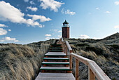 Nature Reserve Dune Countryside on Red Cliff in Kampen, Rotes Kliff lighthouse, Sylt, Schleswig-Holstein, Germany