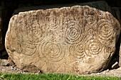 Megalithic art  Knowth passage tomb Brú na Bóinne  Meath County, Ireland