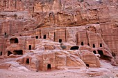 Tourists visit Petra, an ancient city in the southwest of Jordan, hewn from towering walls of rock  Some Bedouin families still live there