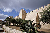 The wall around the medina in Sousse.