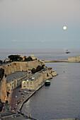Entrance to the harbour in Valletta, Malta