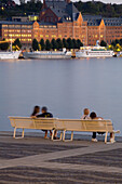 Benches near the water, Stockholm, Sweden