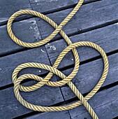 Rope on bridge