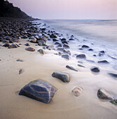 Stones on beach, Stenhuvuds national park, Skane, Sweden
