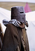 Knight helmet and gloves