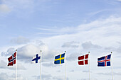Flags of the scandinavian countries (Sweden, Finland, Norway, Denmark and Iceland)