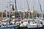 The marina in Ystad, Skane, Sweden