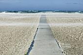 Footbridge on the beach, Slettestrand, Jutland, Denmark