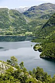 View over Roldal, Norway