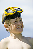 Portrait of a boy with goggles