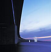Oresundbridge by night, Skåne, Sweden