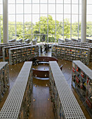 Interior from library in Malmo, Sweden