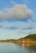 Red fishing hut